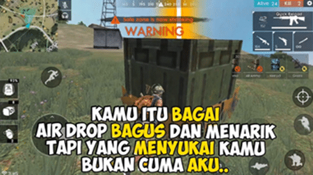 quotes free fire cinta